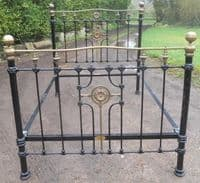 Victorian Style Brass & Iron Double Bed